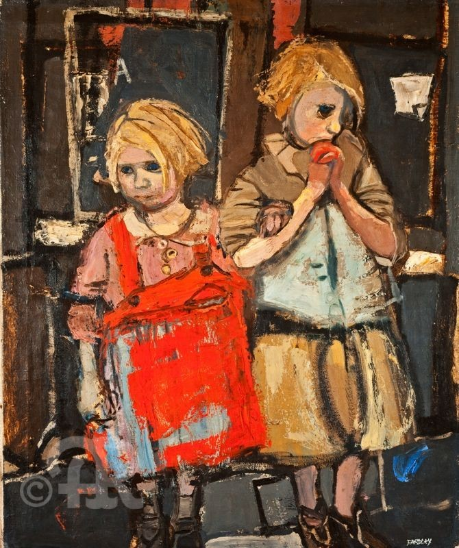 Joan Eardley: Two girls
