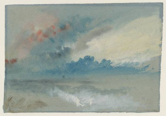William Turner: study of clouds