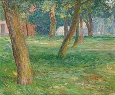 Emile Claus: study for My apple harvest