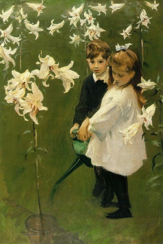 John Singer Sargent: Garden study of the Vickers Children