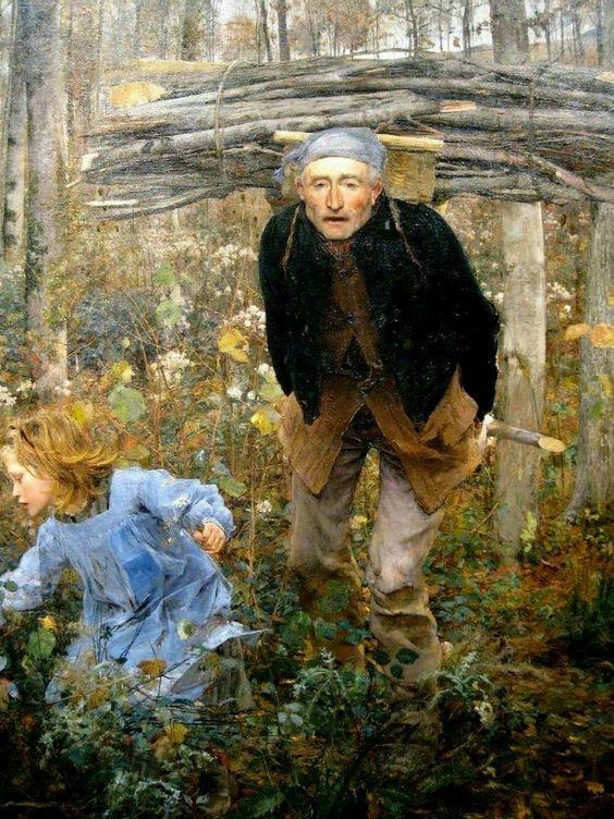 Jules Bastien-Lepage: Wood gatherer