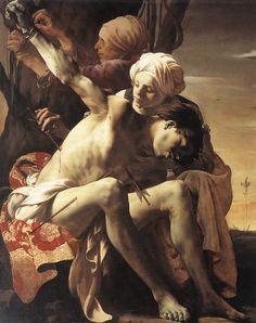 Hendrick ter Bruggen: Saint Sebastian tended by Irene