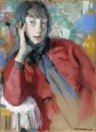 Rik Wouters: Vrouw in rode mantel, olieverf op doek
