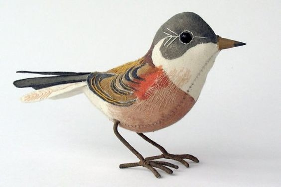Emily Sutton: Painted fabric bird