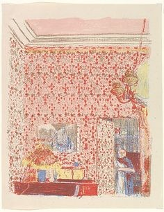 Edouard Vuillard, the pink wallpaper