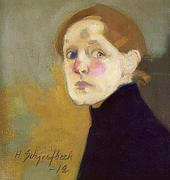 Helene Schjerfbeck: Zelfportret, 1912