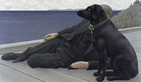 Alex Colville: Dog and priest