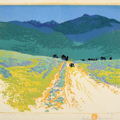 Gustave Baumann: Bound for Taos, woodcut