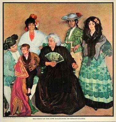 Ignacio Zuloaga: Zigeuner familie