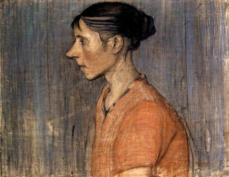 Paula Modersohn-Becker: Woman in a red blouse