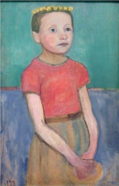 Paula Modersohn-Becker: Girl ia a red blouse
