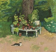 Alberto Morrocco: Cat in the garden