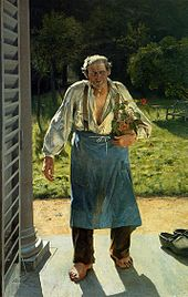 Emile Claus: De oude tuinman