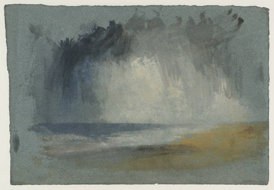 William Turner: grey clouds over the sea