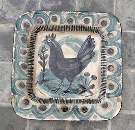 Mark Hearld: Cockerel plate