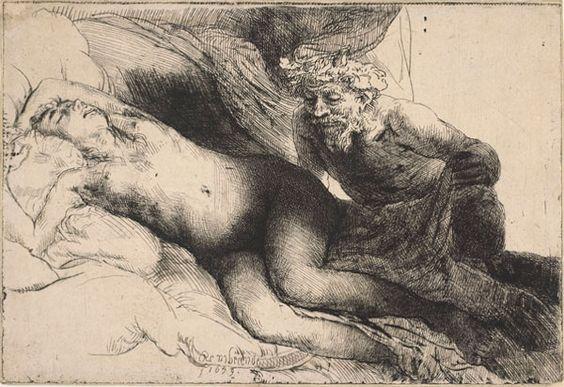 Rembrandt van Rijn: Jupiter and Antiope
