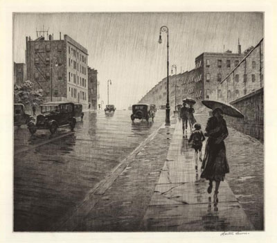 Martin Lewis: Rainy day, Queens