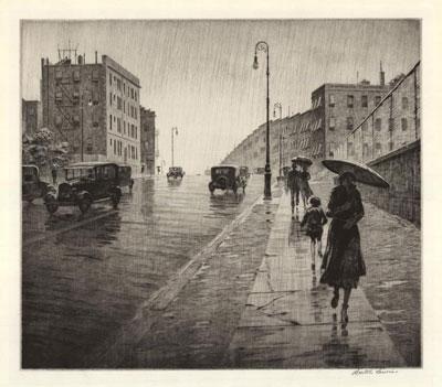 Martin Lewis: Rainy day, Queens