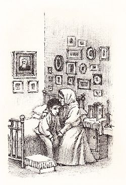 Maurice Sendak:  illustration for a story by Tolstoy