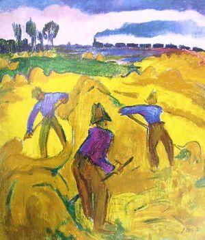 Jan Altink: Hooiende boeren