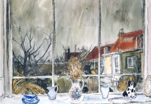 William Gillies: View from the cottage window, Temple