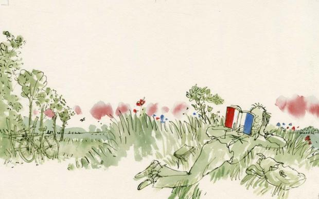 Quentin Blake: Reader of French poetry