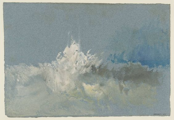 William Turner: breaking wave