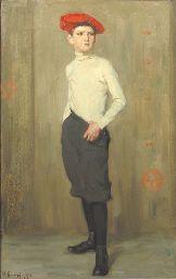 Arthur Kampf: Boy in a red baret