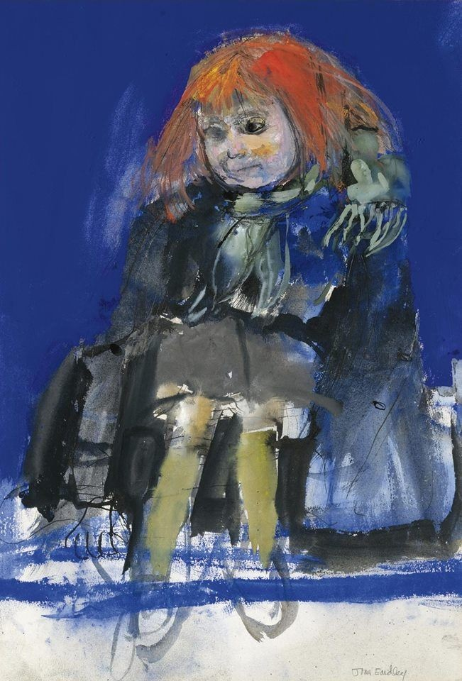 Joan Eardley: Green scarf