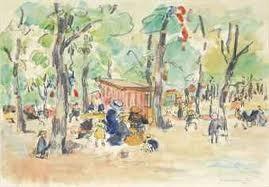 Rik Wouters: Champs Elysées, Parijs, aquarel
