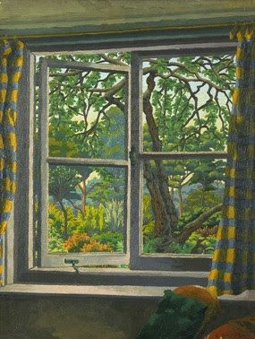 Charles Ginner: through a cottage window, Shipley, Sussex