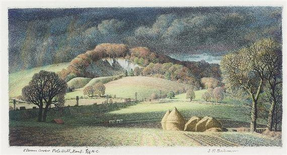 Stanley Roy Badmin: Storm over Pole Hill, Kent