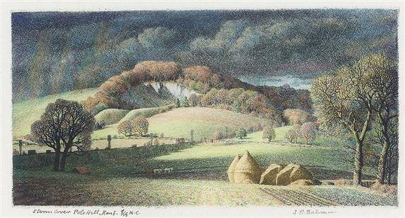 Stanley Roy Badmin: Storm over Pole Hill, Kent