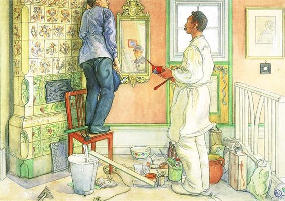 Carl Larsson: The carpenter and the painter