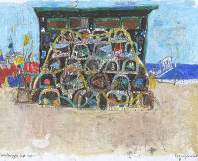 Leon Morrocco: Creel stack, Fraserburgh