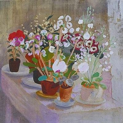 Winifred Nicholson: Cineraria and Cyclamen