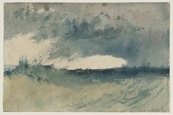 William Turner: study of the sea