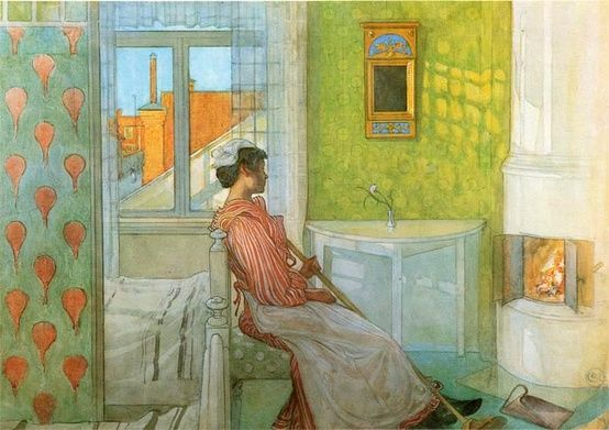 Carl Larsson: Martina by the fire