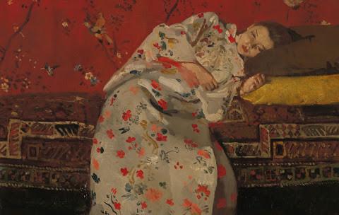 Georg Hendrik Breitner; meisje in witte kimono