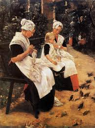 Max Liebermann: Girls in the Amsterdam orphanage