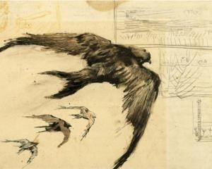 Vincent van Gogh: swifts and a landscape sketch