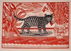 Edward Bawden: The red cat