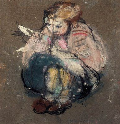 Joan Eardley: Girl reading