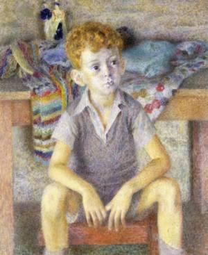 Dod Procter: Portrait of Gilbert Grey
