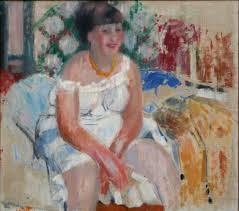 Rik Wouters: Vrouw op de rand van het bed, olieverf op doek