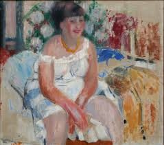 Rik Wouters: Woman on the side of a bed, oil on canvas