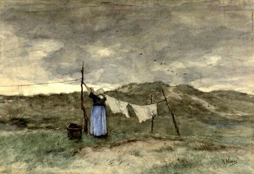 Anton Mauve: Doing the washing