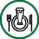 Speisen und Getränke im Kirchheimer Hirschgarten - der Biergarten unter Kastanien