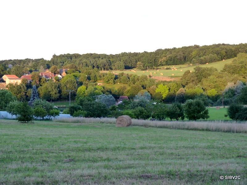 Paysage de la vallée du Couzeau, commune de Lanquais