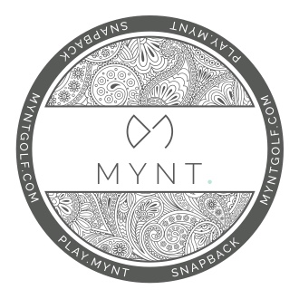 MYNT Golf Cap Brimsticker